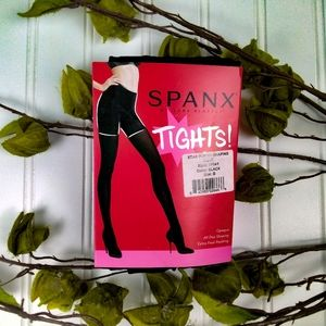 Spanx Star Power Shaping Tights Opaque Black E & G